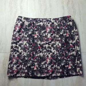 Talbots Woman Petite Lined Floral Skirt 22WP